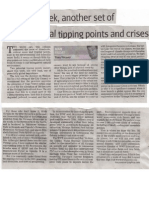 Tony Weaver's Column in The Cape Times  2nd  Aug 2013 Cape Times