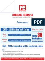 Gate 2014 Online Test Series