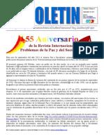 Tercer Boletín del Ateneo Paz y Socialismo