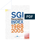 SGI Newsletter Index
