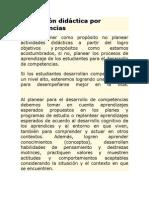 Planeación didáctica por competencias