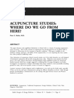 Acupuncture Studies Where Do We Go From Here; Peter e Rubin (Vol 18 No 2)