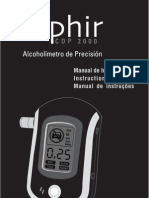 Alcoholimetro CDP 2000 Zaphir - Manual