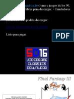 Final Fantasy III NES Manual Instrucciones