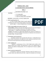 ME 2204 Fluid Mechanics and Machinery TEST(I Unit) Key