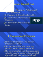 Pro and Con of Feminism