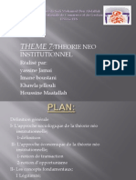 Theorie Neo Institutionnelle