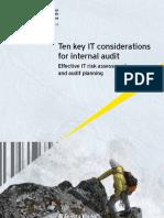 Ten Key IT Considerations for Internal Audit