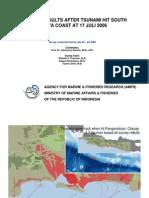 Hasil Survei Tsunami 17 Juli 2006 Pangandaran-Cilacap 23-24 Juli 2006