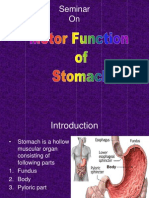 Motor Function of Stomach