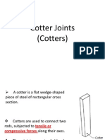 Cotter Joints