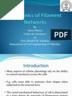 Mechanics of Filament Networks