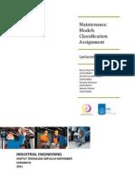 Maintenance Models Classification Assignment