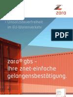 zara® gelangensbestätigung - Ihre znet-einfache Gelangensbestätigung.