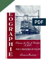 Géographie François-Villin Certificat d'Etudes Primaire 1961