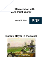 Water Disassociation Using Zero Point Energy