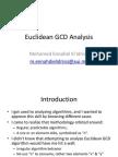 Euclidian GCD Analysis