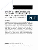Effects of Distant Healing Inten'Tion Through Time