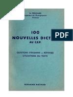 Langue Française Dictées 100 Nouvelles dictées au CEP Pieuchard