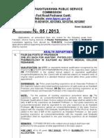 Advt No.5 2013