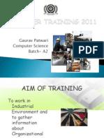 Summer Training 2011