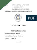 Patología quirurgica de la Pared Torácica  y tumores.pptx