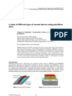 A study of different types of current mirrors using polysilicon TFTs