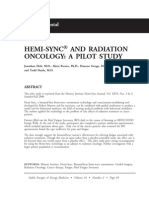 Hemi-sync and Radiation Oncology a Pilot Study; Jonathan Holt (Vol 19 No2)