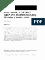 Meditation, Slow Wave Sleep and Ecstatic Seizures the Etiology of Kundalini Visions; Philip Nicholson (Vol 12 No 3)