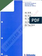 Webasto HL18 Air Top 18 Workshop Manual