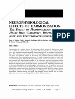 Neurophysiological Effects of Harmonisation the Effect of Harmonisation on Heart Rate Variability, Respiratory Rate and Electroencephalograph; Meier (Vol 17 No 1)