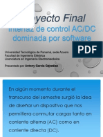Interfaz de control AC/DC basada en Arduino y controlada por software en Java