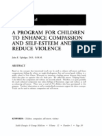 Program for Children to Enhance Compassion and Self-esteem and Reduce Violence; John e Upledger (Vol 12 No 1)
