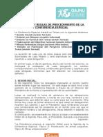 Dinamica y Reglamento Conferencia Especial