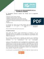 Dinamica y Reglamente Asamblea General