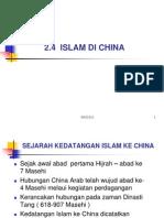 4. Islam Di China