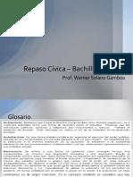 Repaso Cívica – Bachillerato 2012