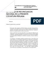 Bernardo Campos--El Mensaje de la Reconciliación en el Perú- (Bernardo Campos)