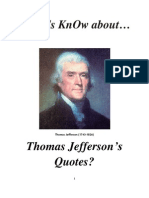 Do Roman Catholics KnOw About Thomas Jefferson Quotes?