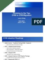 OVM UVM Migration