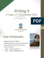 Writing 4_Pertemuan 1_Modul 1_Ai Agustien.pptx