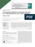 Two-Dimensional Displacement Measurement Using Static