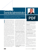 Focus on Domicile and Administrator for Offshore Fund Jan 2012