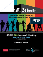 Society for Adolescent Health and Medicine 2013 Annual Meeting Atlanta GA
