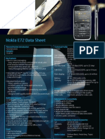 Nokia E72 Data Sheet