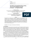 A Study on the Impact of Occupational Stress Among