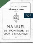 Manuel Du Moniteur de Sports de Combat France edition 1947