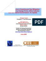 Key Investments in Greenhouse Gas Mitigation  Technologies by Energy Firms, Other Industry  and the Federal Government