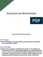 evaluacion morfosintaxis