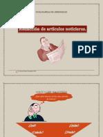 GUÍAS RÁPIDAS DE APRENDIZAJE- Artículo noticia
